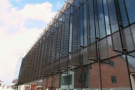 Redcar Leisure Centre Anodised Mesh Screens by United Anodisers
