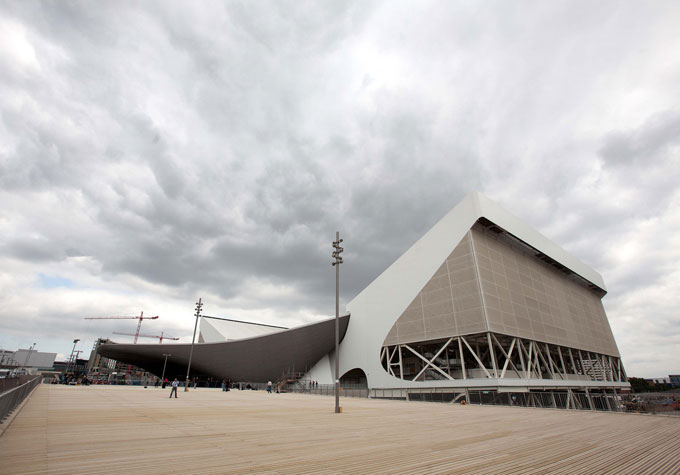 Anodised Finishes on London Olympics Aquatic Centre